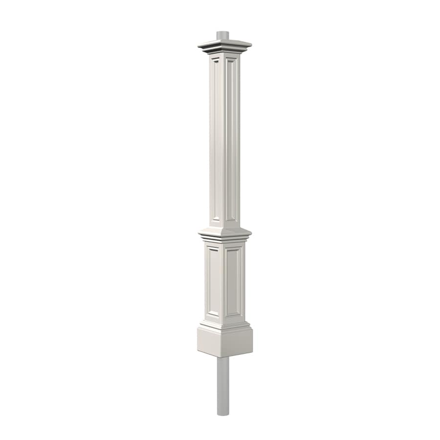 Shop Mayne White 74 In Post Light Pole At Lowes Com