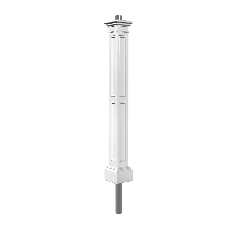 Outdoor Lamp Post B Q: Mayne 74-in White Pole At Lowes.com