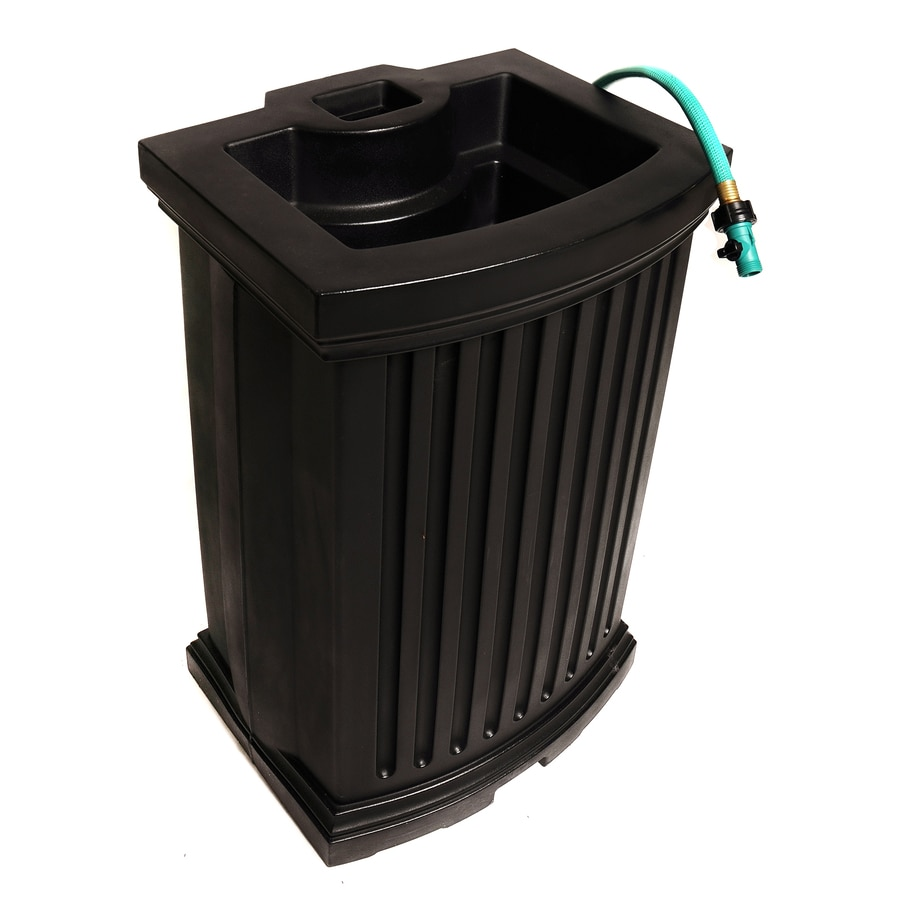 Mayne 40 Gallon Black Plastic Rain Barrel At Lowescom