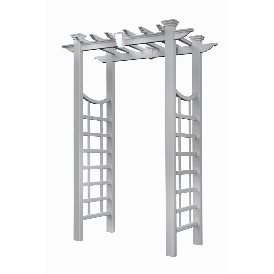 New England Arbors 60.8-in W x 85.9-in H Semi-Glossy White New England Garden Arbor