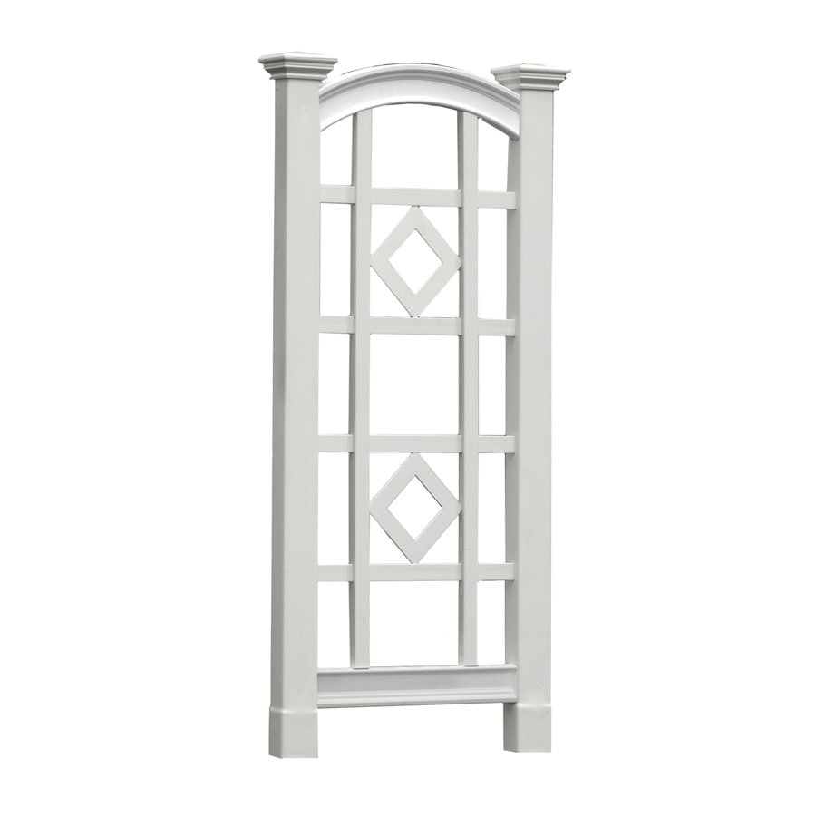 New England Arbors The Milan Trellis 27-in W x 60-in H White/Vinyl New England Garden Trellis