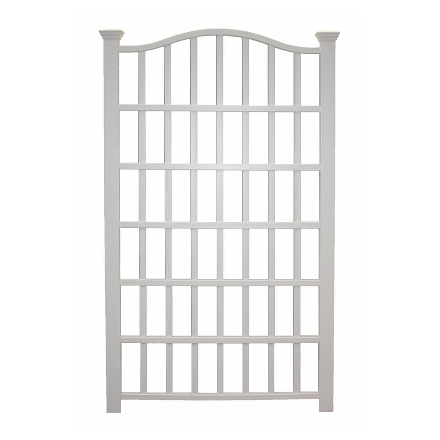 Shop New England Arbors 54 in W x 90 in H White Garden Trellis at
