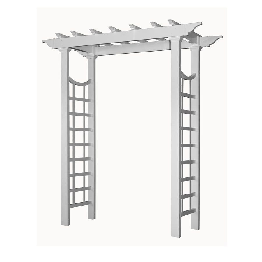 New England Arbors 57-in W x 87.75-in H White Garden Arbor