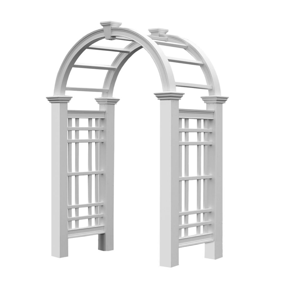 New England Arbors 5-ft W x 8.08-ft H White Garden Arbor