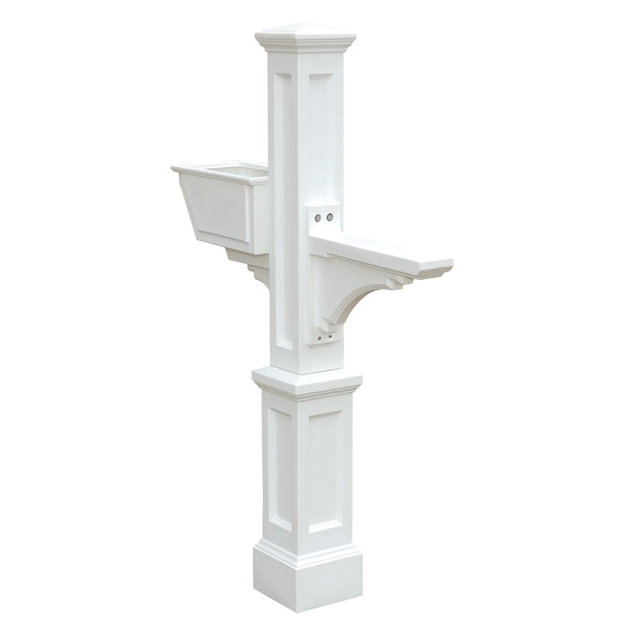 Shop Mayne Westbrook White Polymer Mailbox Post At Lowescom