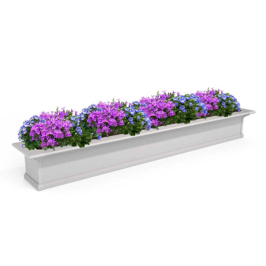 Mayne 84-in x 10-in White PVC Vinyl Hanging Self Watering Window Box