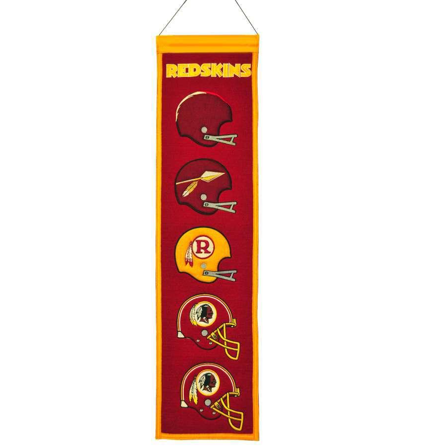 Winning Streak 0.66-ft W x 2.66-ft H Embroidered Washington Redskins Banner