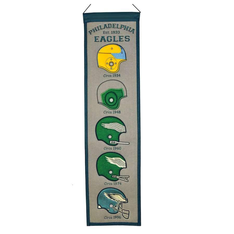 Winning Streak 0.66-ft W x 2.66-ft H Embroidered Philadelphia Eagles Banner