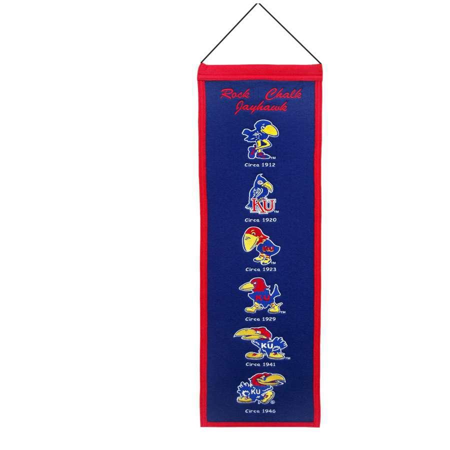 Winning Streak 0.66-ft W x 2.66-ft H Embroidered Kansas Jayhawks Banner