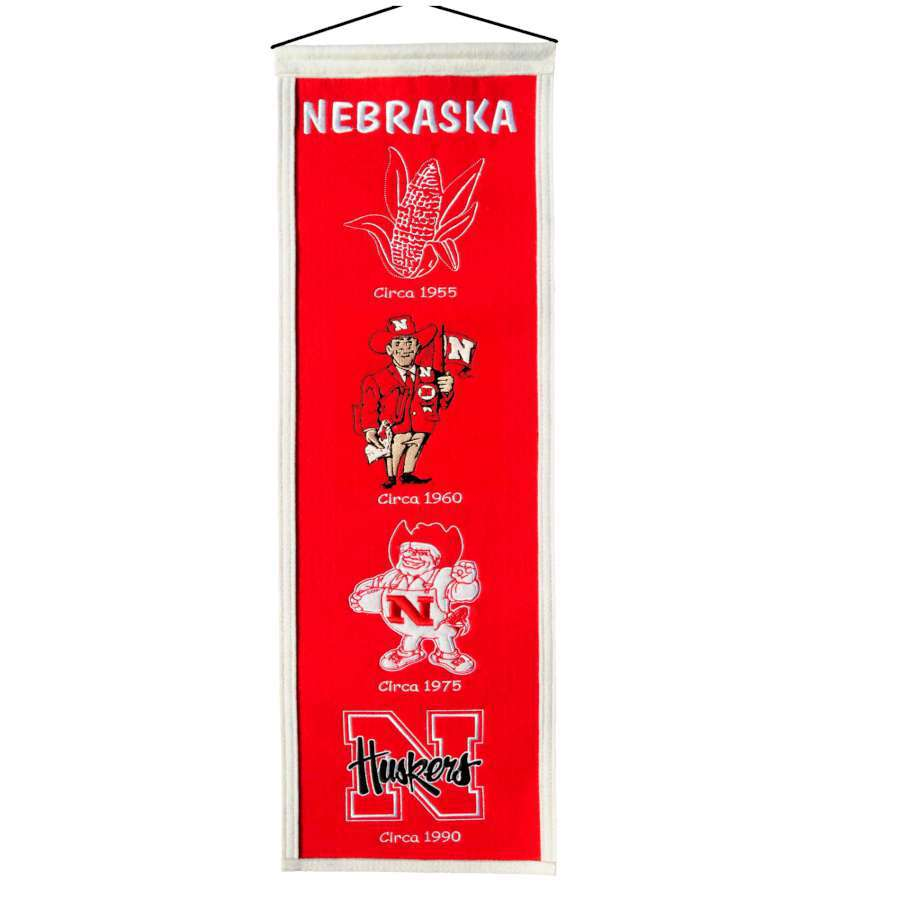 Winning Streak 0.66-ft W x 2.66-ft H Embroidered Nebraska Cornhuskers Banner