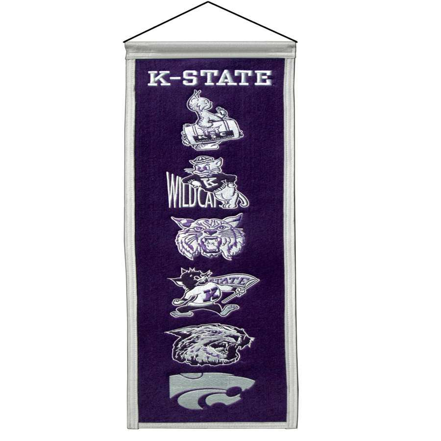 Winning Streak 0.66-ft W x 2.66-ft H Embroidered Kansas State Wildcats Banner