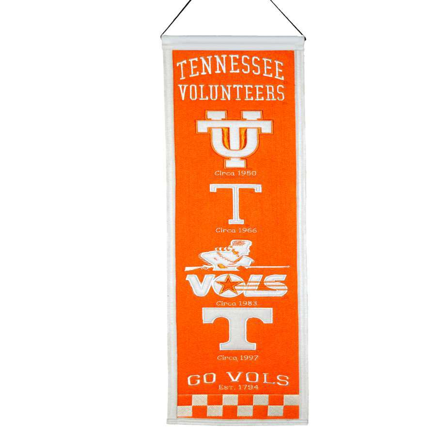 Winning Streak 0.66-ft W x 2.66-ft H Embroidered Tennessee Volunteers Banner