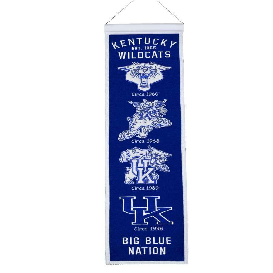 Winning Streak 0.66-ft W x 2.66-ft H Embroidered Kentucky Wildcats Banner
