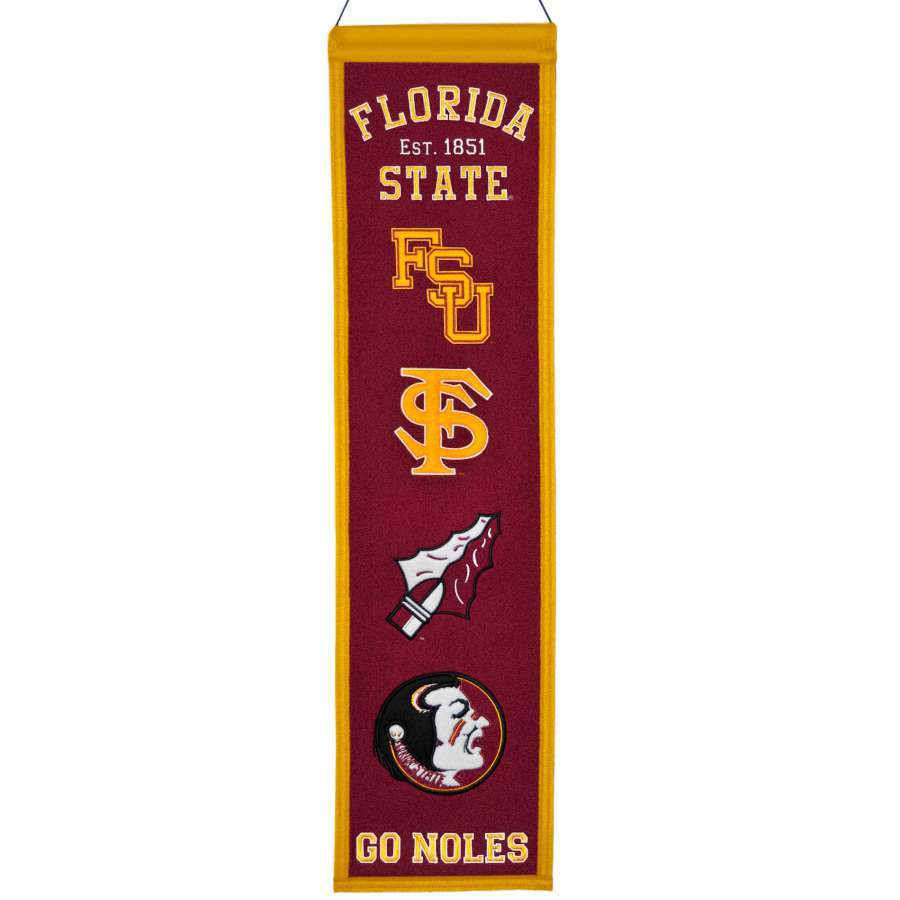 Winning Streak 0.66-ft W x 2.66-ft H Embroidered Florida State Seminoles Banner