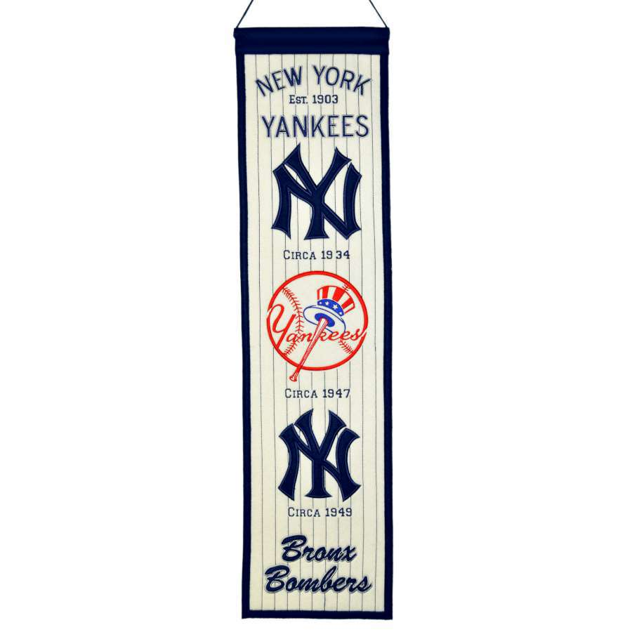 Winning Streak 0.66-ft W x 2.66-ft H Embroidered New York Yankees Banner