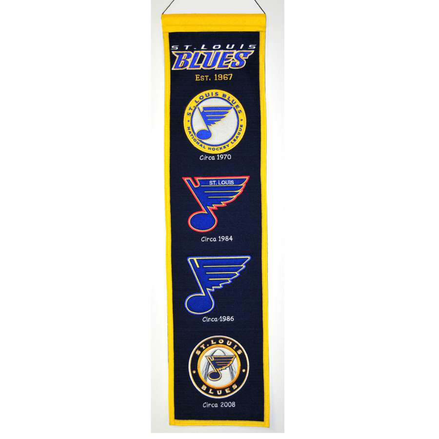 Winning Streak 0.66-ft W x 2.66-ft H Embroidered St Louis Blues Banner