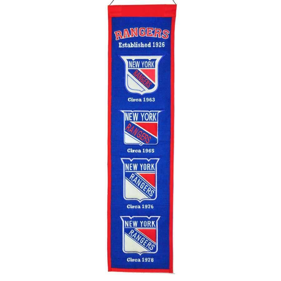 Winning Streak 0.66-ft W x 2.66-ft H Embroidered New York Rangers Banner