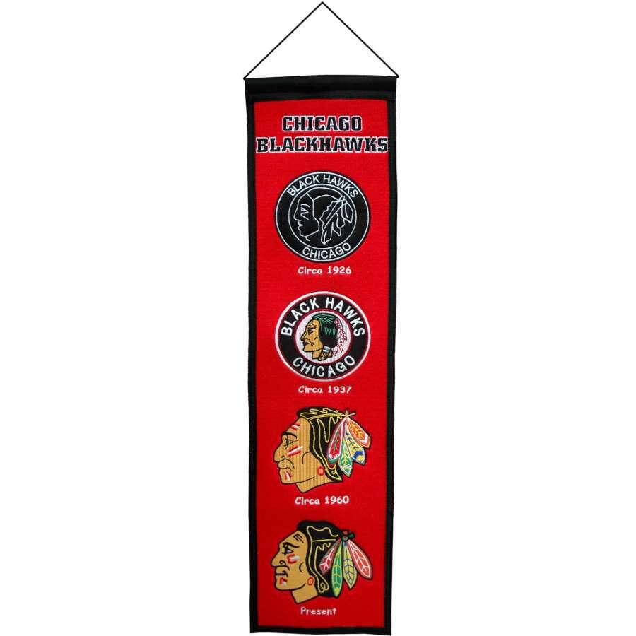 Winning Streak 0.66-ft W x 2.66-ft H Embroidered Chicago Blackhawks Banner