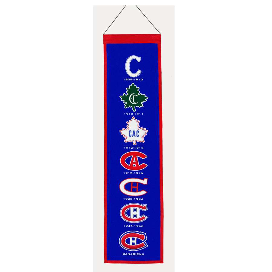 Winning Streak 0.66-ft W x 2.66-ft H Embroidered Montreal Canadiens Banner