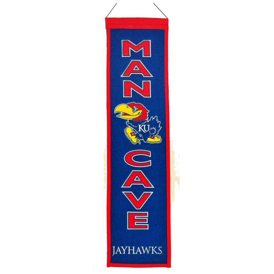 Winning Streak 0.66-ft W x 2.66-ft H Collegiate Embroidered University of Kansas Jayhawks Banner