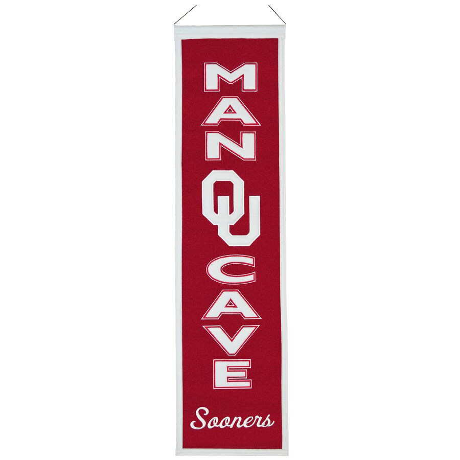 Winning Streak 0.66-ft W x 2.66-ft H Collegiate Embroidered University of Oklahoma Sooners Banner