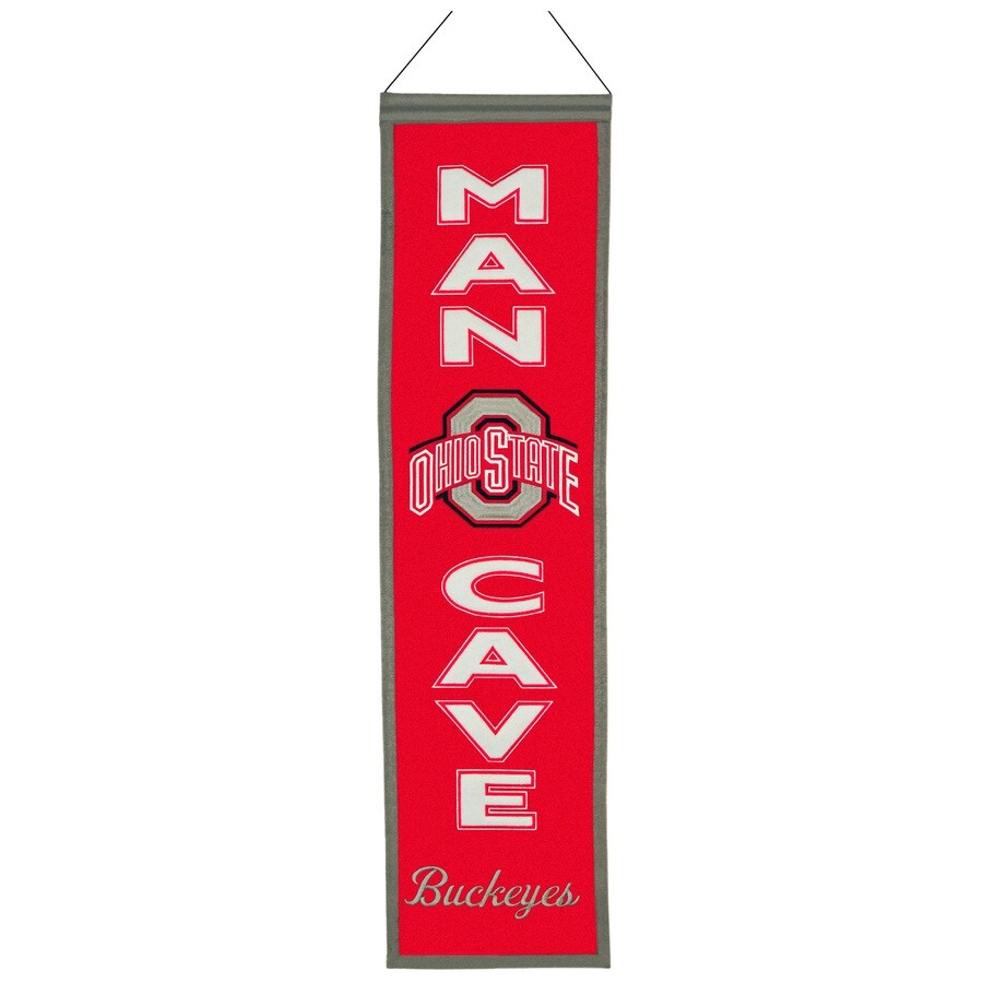 Winning Streak 0.66-ft W x 2.66-ft H Collegiate Embroidered Ohio State University Buckeyes Banner