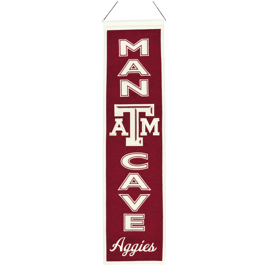Winning Streak 0.66-ft W x 2.66-ft H Collegiate Embroidered Texas Am University Aggies Banner
