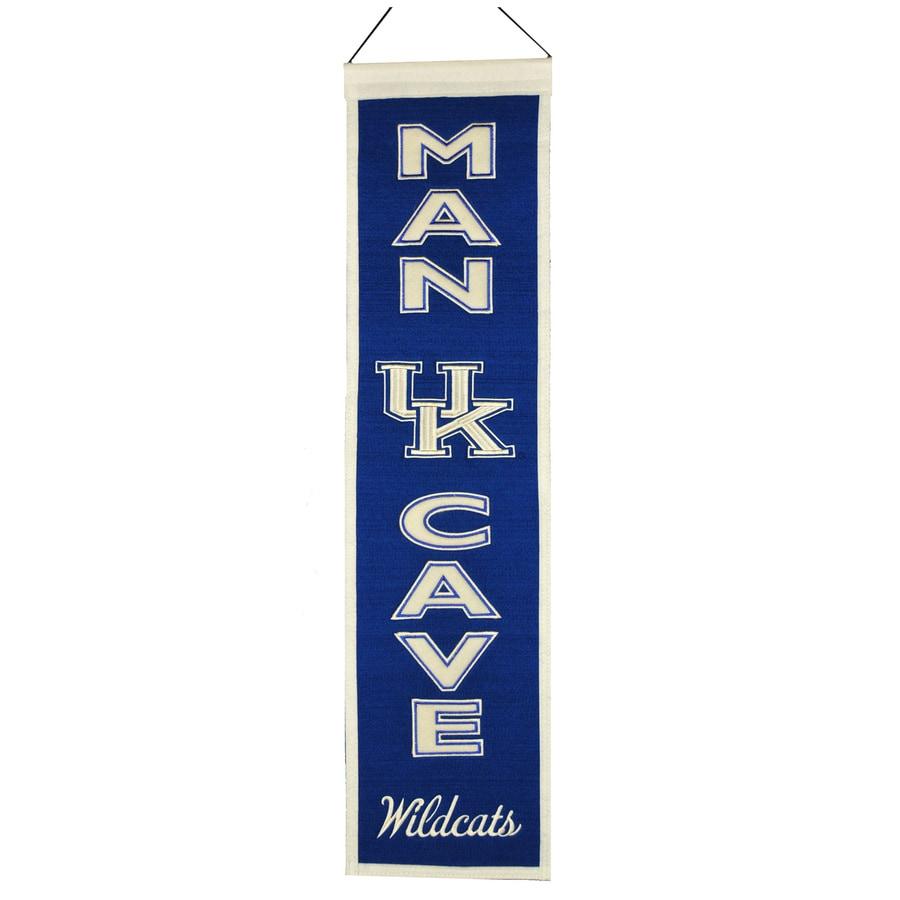 Winning Streak 0.66-ft W x 2.66-ft H Collegiate Embroidered University of Kentucky Wildcats Banner