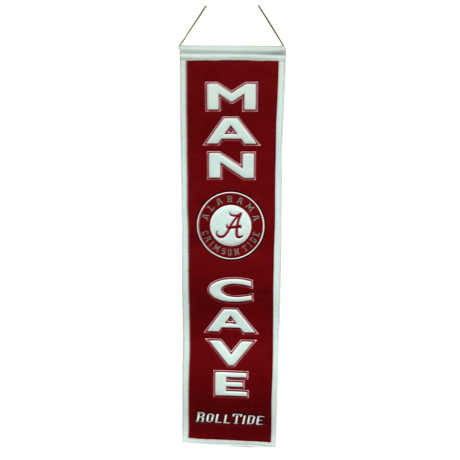 Winning Streak 0.66-ft W x 2.66-ft H Collegiate Embroidered University of Alabama Crimson Tide Banner