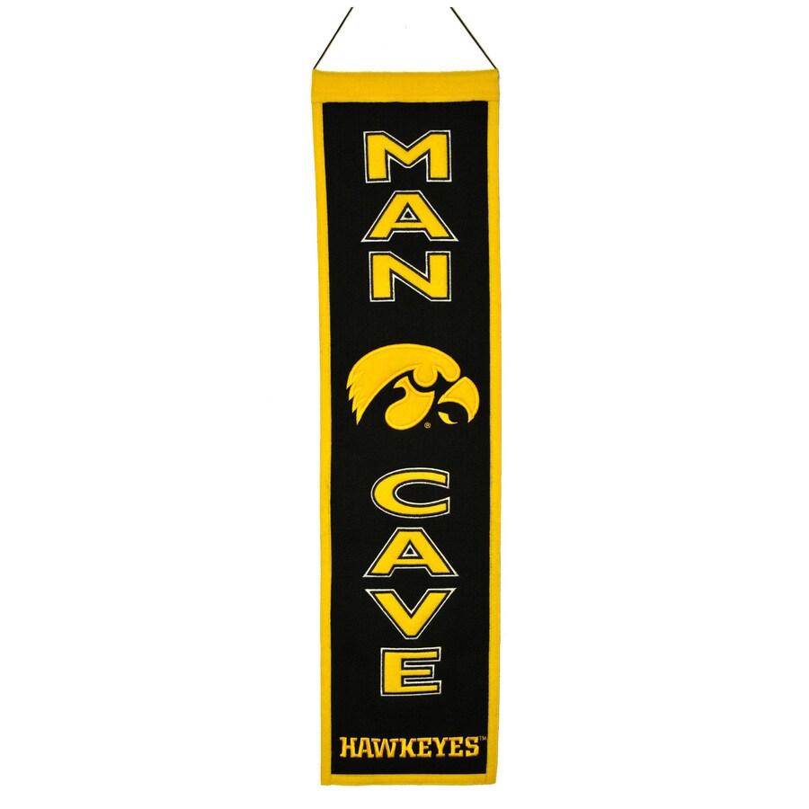 Winning Streak 0.66-ft W x 2.66-ft H Collegiate Embroidered University of Iowa Hawkeyes Banner