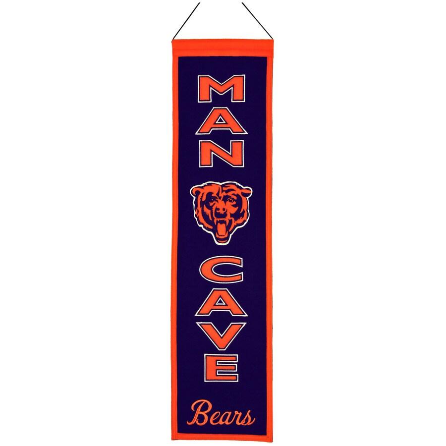 Winning Streak 0.66-ft W x 2.66-ft H Embroidered Chicago Bears Banner