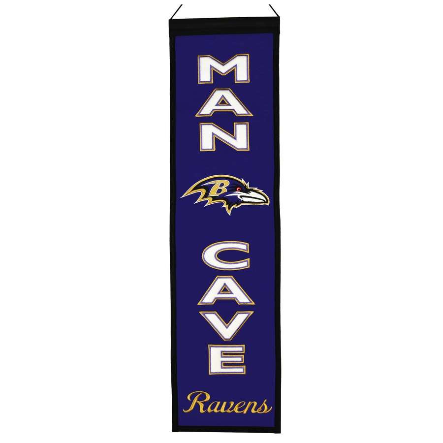 Winning Streak 0.66-ft W x 2.66-ft H Embroidered Baltimore Ravens Banner