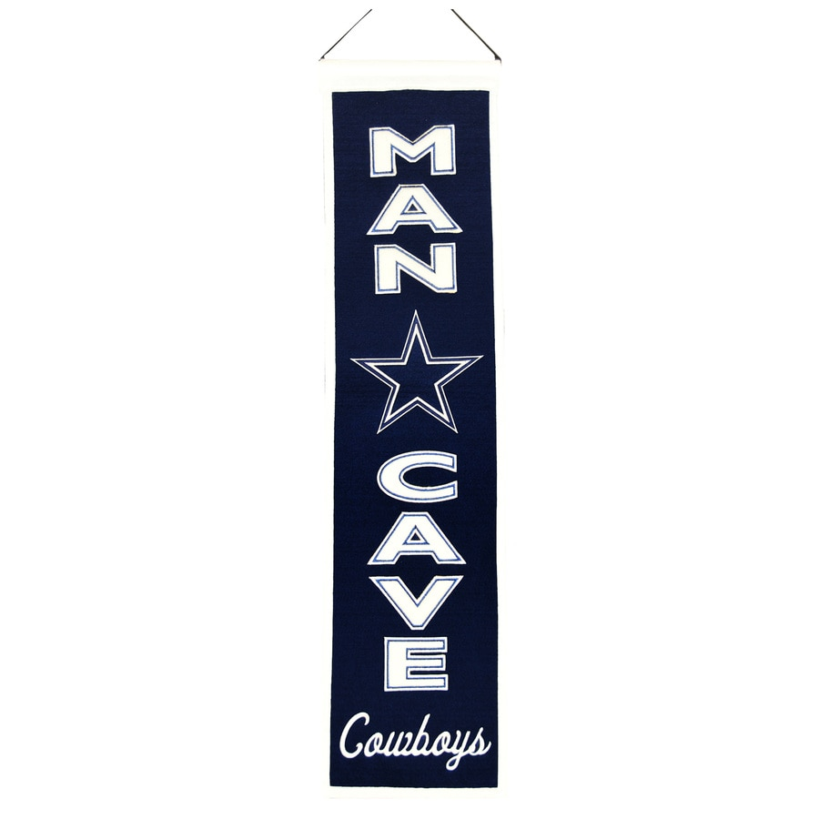 Winning Streak 0.66-ft W x 2.66-ft H Embroidered Dallas Cowboys Banner