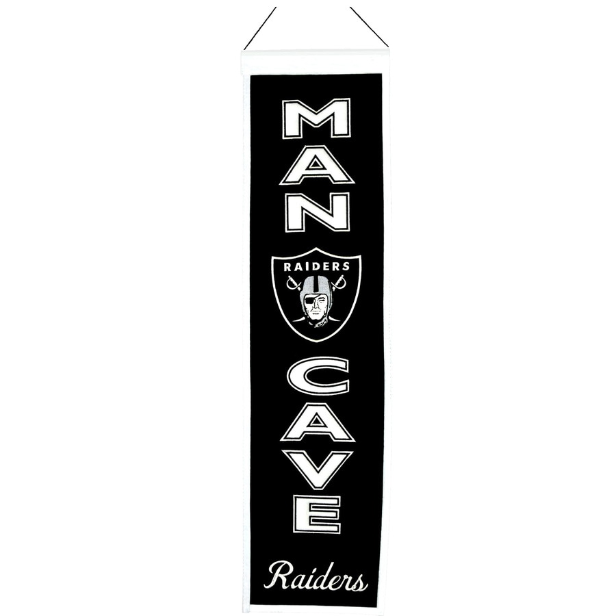 Winning Streak 0.66-ft W x 2.66-ft H Embroidered Oakland Raiders Banner