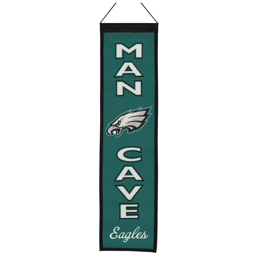 Winning Streak 0.66-ft W x 2.66-ft H Embroidered Philadelphia Eagles Banner
