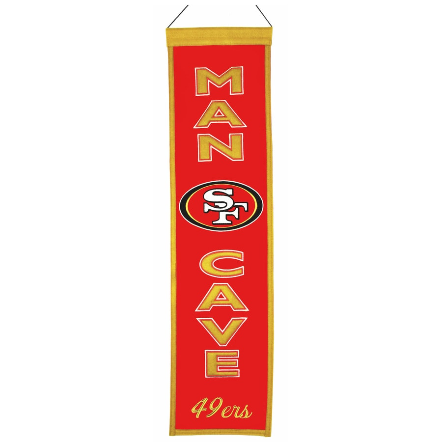 Winning Streak 0.66-ft W x 2.66-ft H Embroidered San Francisco 49ers Banner