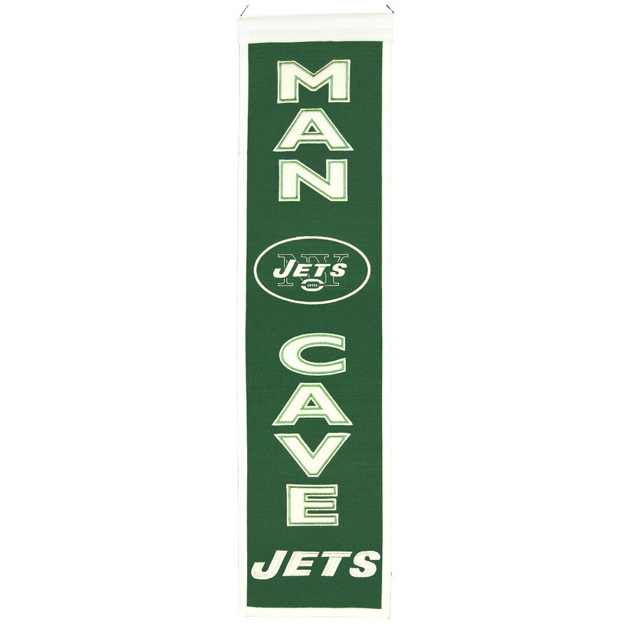 Winning Streak 0.66-ft W x 2.66-ft H Embroidered New York Jets Banner