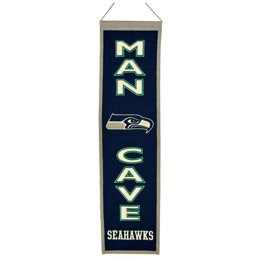 Winning Streak 0.66-ft W x 2.66-ft H Embroidered Seattle Seahawks Banner