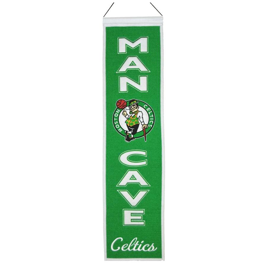 Winning Streak 0.66-ft W x 2.66-ft H Embroidered Boston Celtics Banner