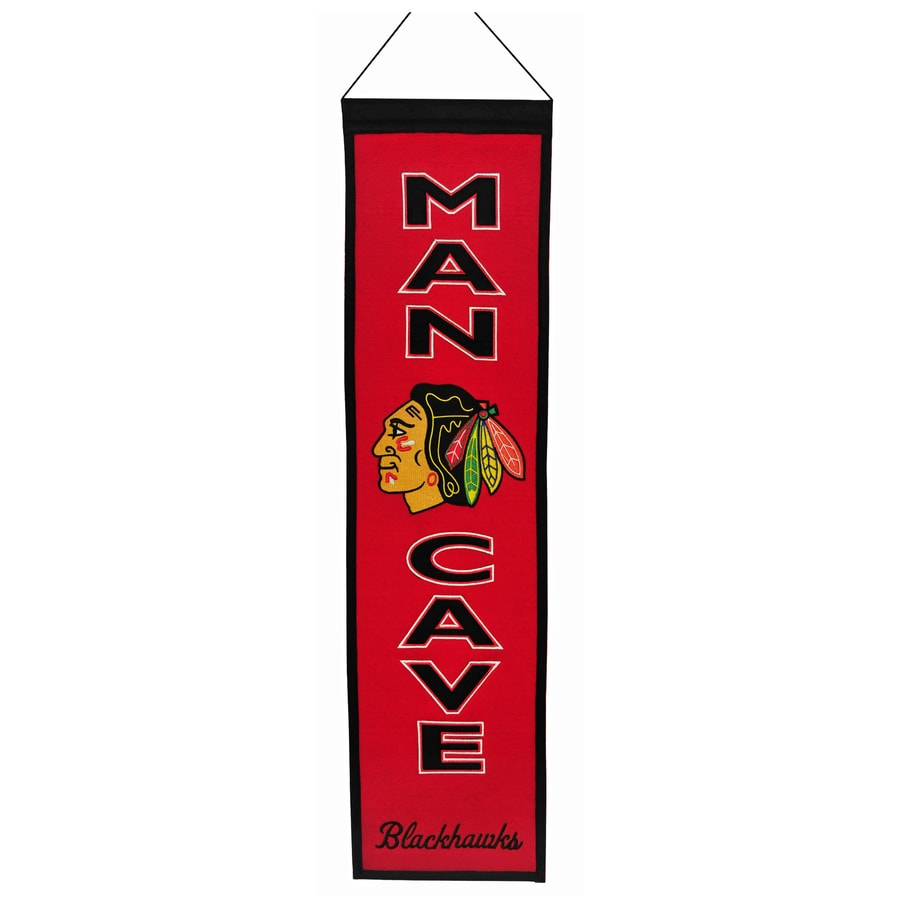 Winning Streak 0.66-ft W x 2.66-ft H Embroidered Chicago Blackhawks Banner