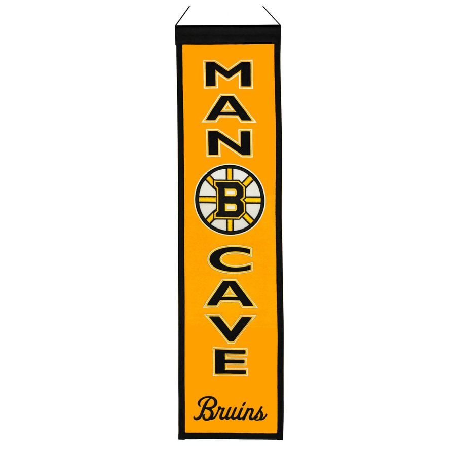 Winning Streak 0.66-ft W x 2.66-ft H Embroidered Boston Bruins Banner