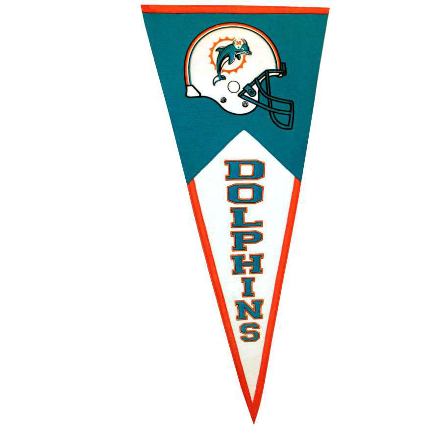 Winning Streak 41-in x 18-in Miami Dolphins Pennant