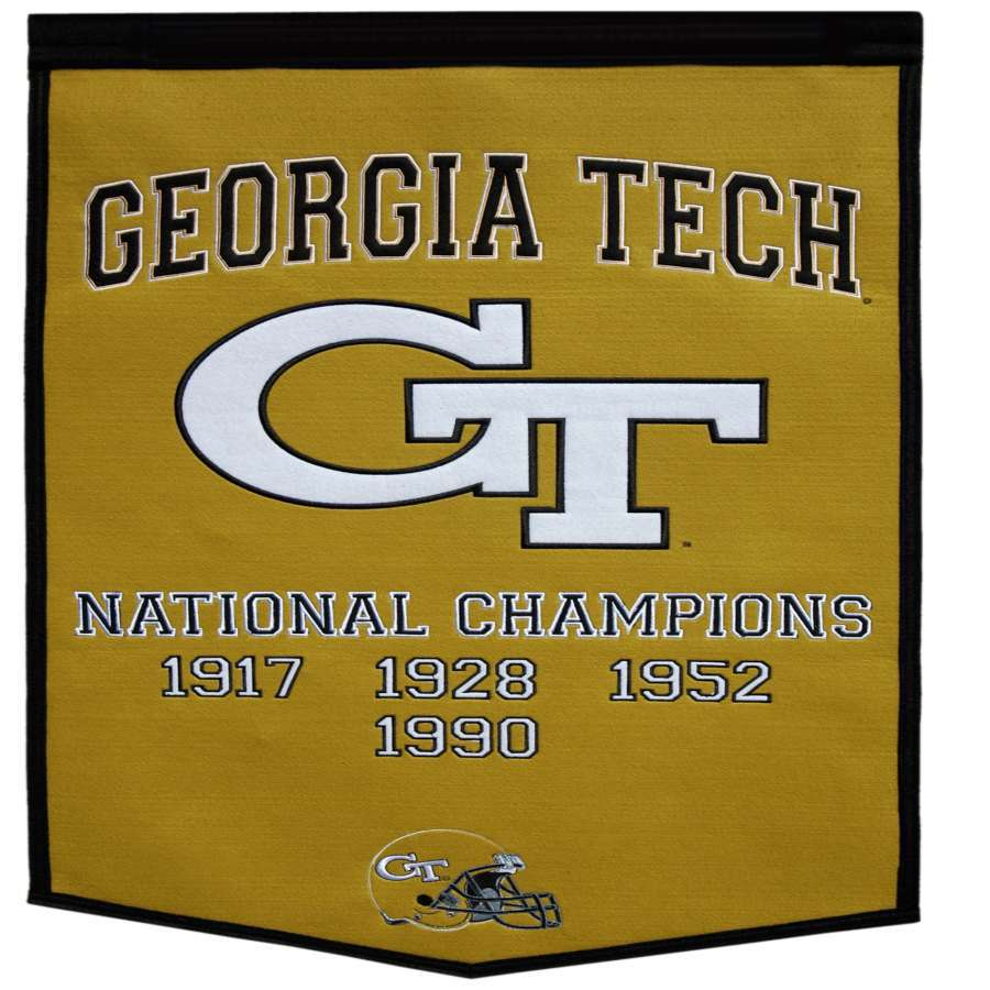 Winning Streak 38-in x 24-in Georgia Tech Yellow Jackets Banner