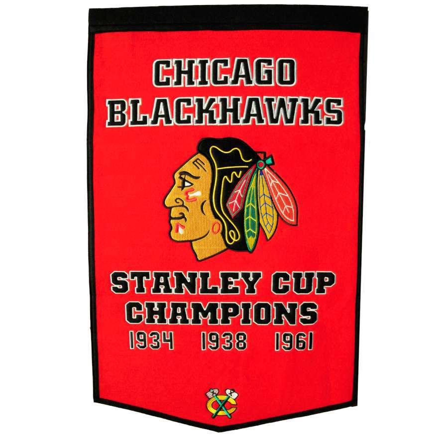 Winning Streak 38-in x 24-in Chicago Blackhawks Banner