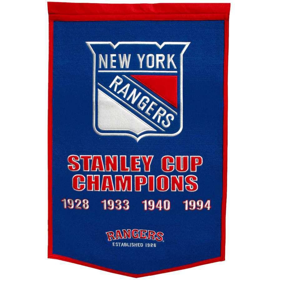 Winning Streak 38-in x 24-in New York Rangers Banner
