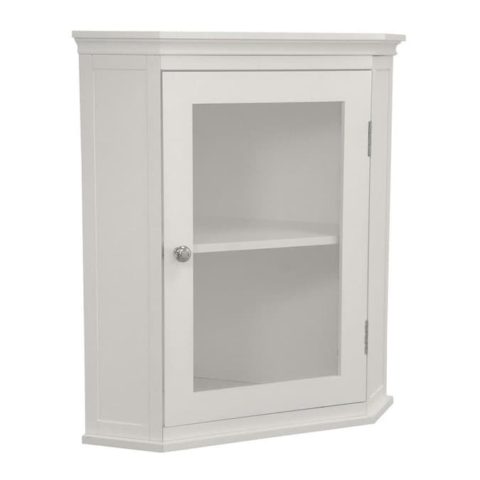 Elegant Home Fashions Madison Corner Wall Cabinet In The Bathroom Wall Cabinets Department At Lowes Com
