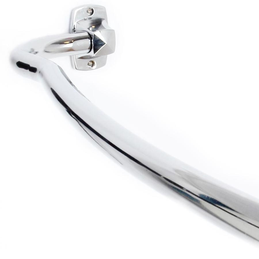 Elegant Home Fashions Elegant 72-in Chrome Zinc Curved Adjustable Shower Rod