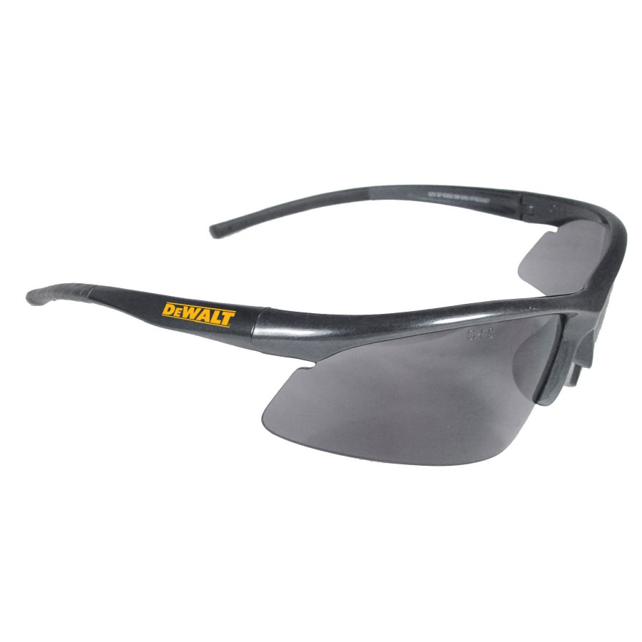 DEWALT Radius Black Plastic Safety Glasses with Smoke Lens
