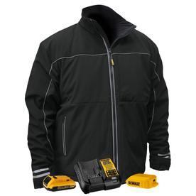 DeWALT DCHJ072D1-S 20-Volt Heated Soft Shell Jacket Kit, Black - Small