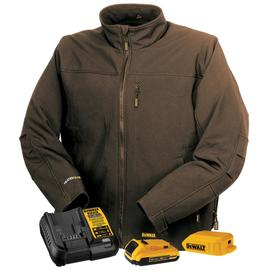 DEWALT Mens Medium Soft Shell 20-Volt MAX XR Lithium-Ion Black Jacket Kit with 2.0 Ah Battery and Charger